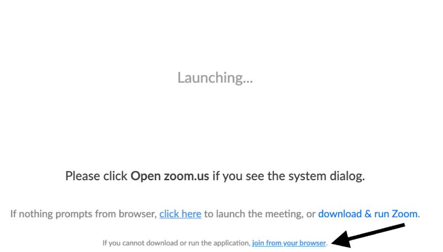 פתיחת הפגישה בדפדפן